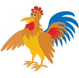 Cartoon rooster royalty free stock photo