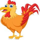 Cartoon rooster with blank sign Stock Photos
