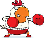 Cartoon Rooster Boxing Stock Photography