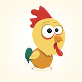 Cartoon Rooster. Cartoon of a cute rooster Royalty Free Stock Image