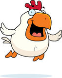 Cartoon Rooster Flying Stock Images