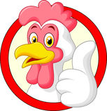 Cartoon rooster giving thumb up Stock Images