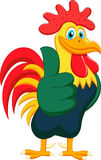 Cartoon rooster giving thumbs up Stock Photos