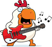 Cartoon Rooster Guitar Stock Images