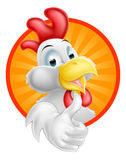 Cartoon Rooster. A happy funny Cartoon Rooster chicken giving a thumbs up Royalty Free Stock Image