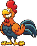 Cartoon rooster. Happy cartoon rooster. Vector clip art illustration with simple gradients. All in a single layer Royalty Free Stock Images