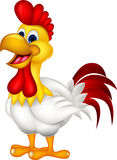 Cartoon rooster isolated Stock Image