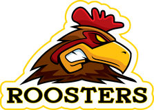 Cartoon Rooster Mascot Royalty Free Stock Image