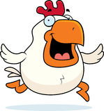 Cartoon Rooster Running Stock Photography
