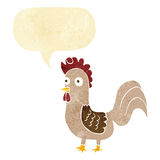 Cartoon rooster with speech bubble Stock Photos