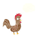 Cartoon rooster with thought bubble Royalty Free Stock Images