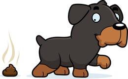 Cartoon Rottweiler Poop Stock Image