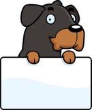 Cartoon Rottweiler Sign Stock Image