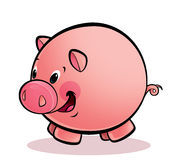 Happy smiling pig Royalty Free Stock Images