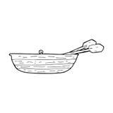 Cartoon rowing boat Royalty Free Stock Photo