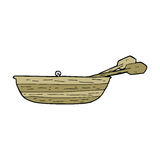 Cartoon rowing boat Stock Images