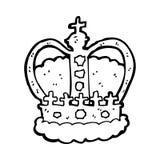 cartoon royal crown Stock Images