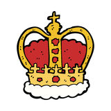 cartoon royal crown Royalty Free Stock Images