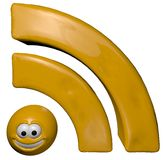 Cartoon rss symbol Royalty Free Stock Photos