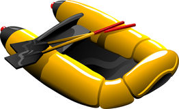 Cartoon rubber boat Royalty Free Stock Photography