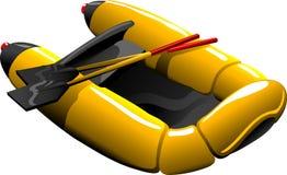 Cartoon rubber boat Royalty Free Stock Photography