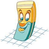 Cartoon rubber eraser tool stock photography