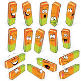 Cartoon rubbers or erasers royalty free illustration