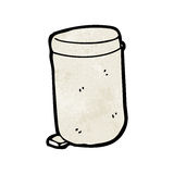 Cartoon rubbish bin Royalty Free Stock Image