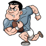 Cartoon Rugby player Stock Image