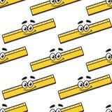 Cartoon ruler seamless pattern Royalty Free Stock Photography