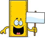 Cartoon Ruler Sign Stock Images