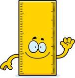 Cartoon Ruler Waving Stock Photo