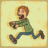 Cartoon run illustration, vector icon Stock Photography