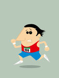 Cartoon runner. Vector illustration background Stock Photography