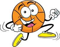 Cartoon running basketball Stock Photography