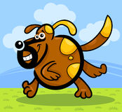 Cartoon running dog or puppy Royalty Free Stock Photo