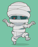Cartoon running mummy Royalty Free Stock Photo
