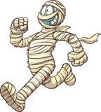 Cartoon running mummy Stock Images