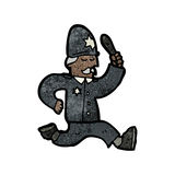 Cartoon running policeman Royalty Free Stock Images