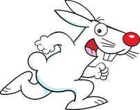 Cartoon running rabbit Stock Photos