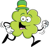 Cartoon running shamrock Royalty Free Stock Photos