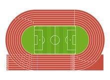 Cartoon Running Track Stadium. Vector Royalty Free Stock Image