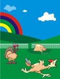 Cartoon rural animals Royalty Free Stock Photos