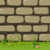 Cartoon Rural Stone Wall Royalty Free Stock Photo