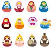 Cartoon Russian Doll icon Stock Photo