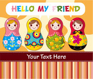 Cartoon Russian dolls Royalty Free Stock Photos