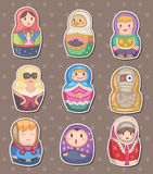 Cartoon Russian stickers Stock Photos