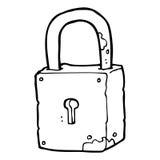 Cartoon rusty lock Stock Image