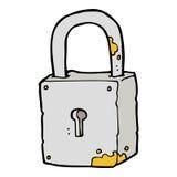 cartoon rusty lock Royalty Free Stock Image