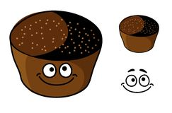 Cartoon rye bread Stock Images